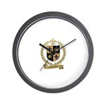 COMEAUX Family Crest Wall Clock
