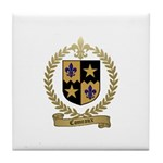 COMEAUX Family Crest Tile Coaster