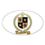 COMEAUX Family Crest Oval Sticker