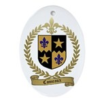 COMEAUX Family Crest Oval Ornament