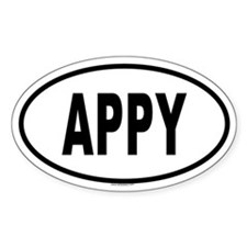 APPY Oval Decal