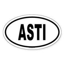 ASTI Oval Decal