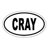 CRAY Oval Decal