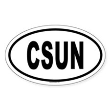 CSUN Oval Decal