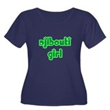 Djibouti Girl Cute Women's Plus Size Scoop Neck Da