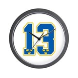 SE Sweden(Sverige) Hockey 13 Wall Clock