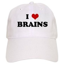 I Love BRAINS Baseball Cap