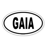 GAIA Oval Decal