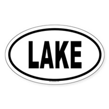 LAKE Oval Decal