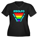 Adolfo Gay Pride (#008) Women's Plus Size V-Neck D