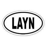 LAYN Oval Decal