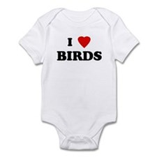 I Love BIRDS Infant Bodysuit