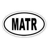 MATR Oval Decal