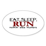 Eat Sleep Run Oval Decal