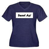 Sweet As 4 Women's Plus Size V-Neck Dark T-Shirt