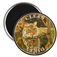 "Siberian Tiger Dishwasher,2.25"" Magnet (100 pack)"