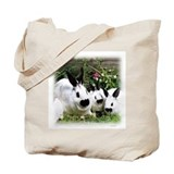 Black and White Rabbits Tote Bag