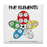 Five Elements Tile Coaster