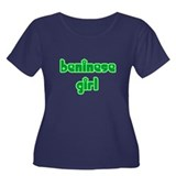 Beninese Girl Cute Women's Plus Size Scoop Neck Da