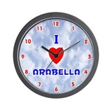 I Love Arabella (Red/Bl) Valentine Wall Clock