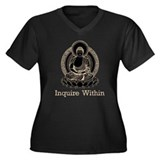 Vintage Buddha Inquire Within Women's Plus Size V-