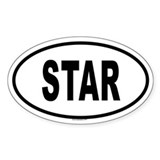 STAR Oval Decal