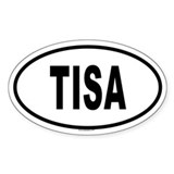 TISA Oval Decal