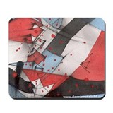 Abstract RWB Mousepad