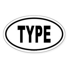 TYPE Oval Decal