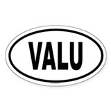 VALU Oval Decal