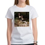 Two Turkeys on a Log Women's T-Shirt