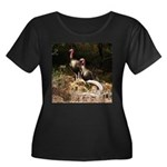 Two Turkeys on a Log Women's Plus Size Scoop Neck
