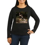 Two Turkeys on a Log Women's Long Sleeve Dark T-Sh