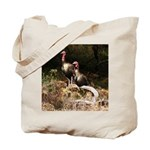Two Turkeys on a Log Tote Bag