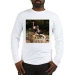 Two Turkeys on a Log Long Sleeve T-Shirt