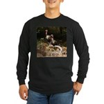 Two Turkeys on a Log Long Sleeve Dark T-Shirt