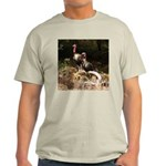 Two Turkeys on a Log Light T-Shirt