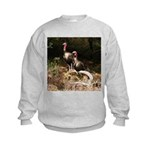 Two Turkeys on a Log Kids Sweatshirt