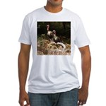Two Turkeys on a Log Fitted T-Shirt