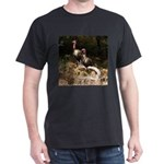 Two Turkeys on a Log Dark T-Shirt