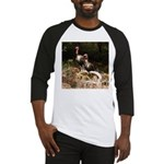 Two Turkeys on a Log Baseball Jersey