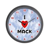 I Love Mack (Red/Blk) Valentine Wall Clock