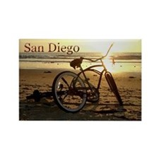 San Diego Artsie Bike Rectangle Magnet