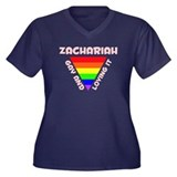 Zachariah Gay Pride (#007) Women's Plus Size V-Nec