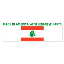 MADE IN AMERICA WITH LEBANESE Bumper Bumper Sticker