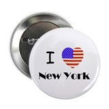 "USA Heart New York 2.25"" Button (100 pack)"