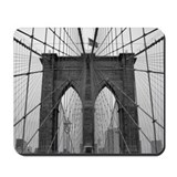 Brooklyn Bridge B&amp;W Mousepad