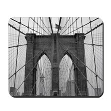 Brooklyn Bridge B&W Mousepad