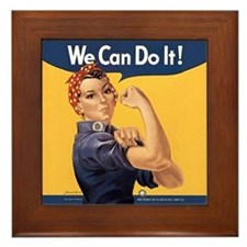 Rosie the Riveter We Can Do It Framed Tile