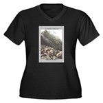 Katahdin Women's Plus Size V-Neck Dark T-Shirt